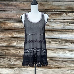 Free People ~ Black Lace Tanktop ~ Size SP